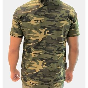 Authentic American Heritage Shirts - Heritage America Bombs Away Graphic Camo T-Shirt